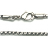 "Chain 15"" Nickel Silver Ox"